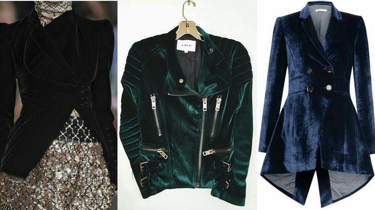 New Trend Velvet Jacket Design Collection For Girlstop Stylish