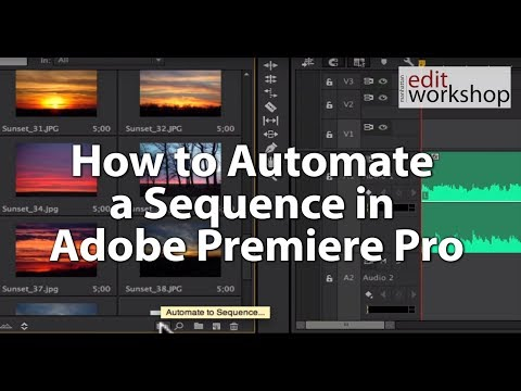 How to Automate a Sequence in Adobe Premiere Pro
