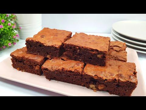 La mejor receta de Brownie y la más fácil: BROWNIE 2 CHOCOLATES #shorts #017