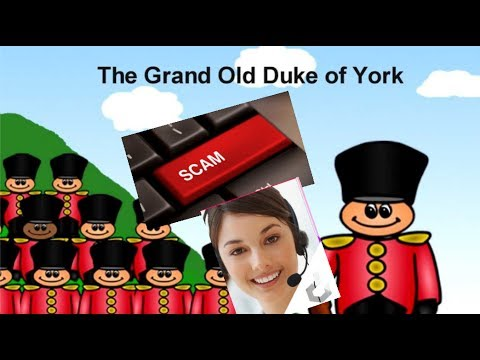 "Tech Support Scammer duets ""Grand Old Duke of York"" with me!!"