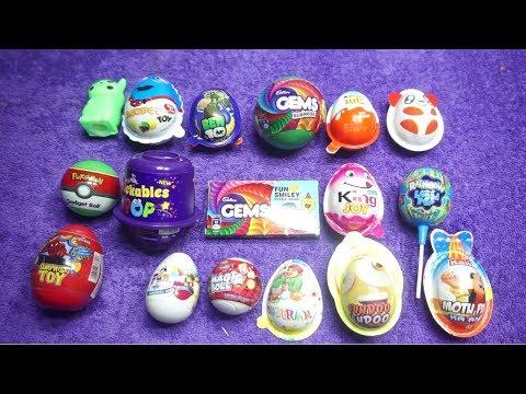 New Collection Of Cadbury likables pop ,Ben 10 Surprise Egg,Motu patlu Ka Anda,Gems ,Kinder Joy