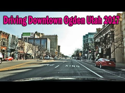 Driving Downtown Ogden Utah and Ogden Newgate Mall 2017 Part 1.