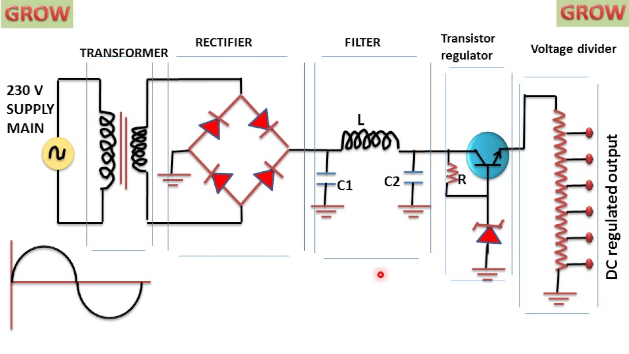 Regulated Power Supply Schematic