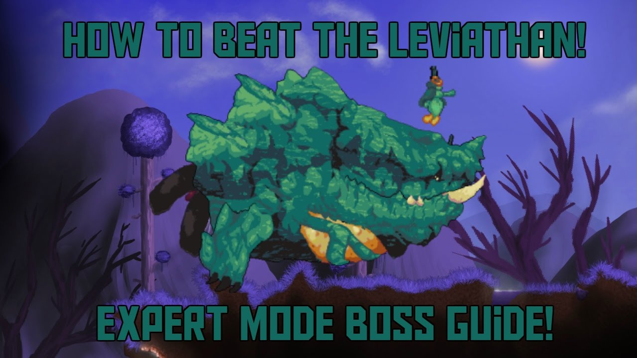 How to Beat the Leviathan in Terraria! -Expert Mode Calamity Mod Boss Guide!
