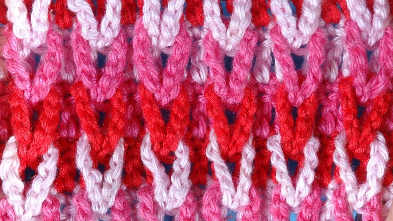 Узоры для вязания крючком разноцветные 368