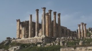 Gerasa Temple of Zeus or Jupiter at Jerash - Jordan