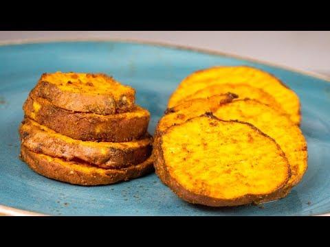Geröstete Süßkartoffel-Scheiben: Schnell und würzig!