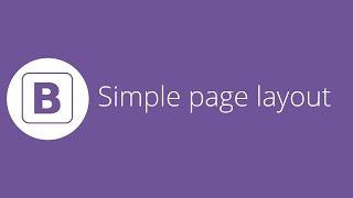 (Son video)basit bir sayfa düzeni Oluşturma 22 Bootstrap öğretici -