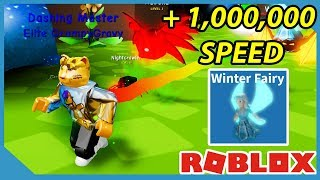 I am the Fastest Player on the Fairy World - Roblox Dashing Simulator