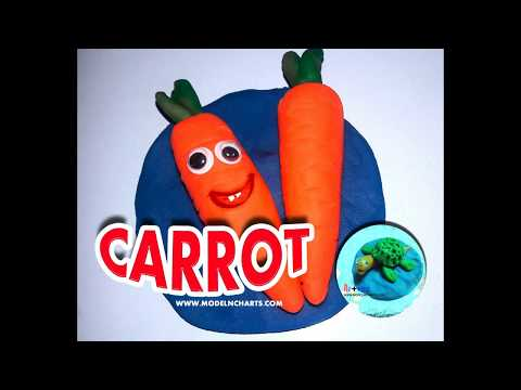 HOW TO MAKE CLAY MODELLING FRUIT CARROT