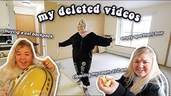MY NEVER BEFORE SEEN DELETED VIDEOS! *aka you dont wanna miss this*