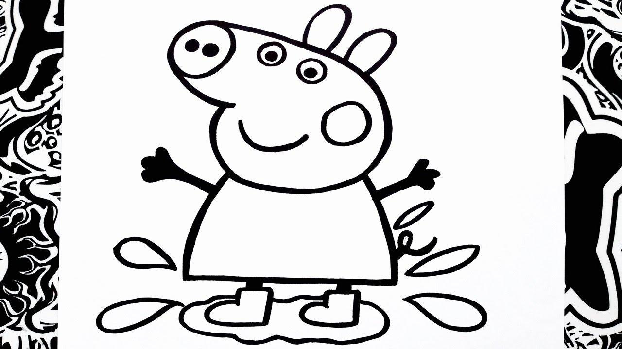 Como Dibujar A Peppa Paso A Paso How To Draw Peppa Pig Como Desenhar Peppa Pig