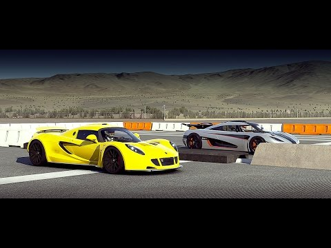 Forza 6: Koenigsegg ONE:1 vs. Hennessey Venom GT | Drag Race
