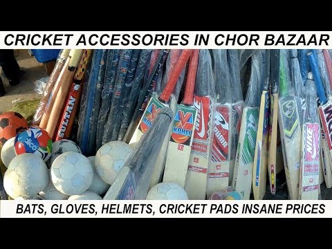 VikVlogs #9 | 🏏 Delhi Biggest Cricket Accessories Market in Chor Bazaar🏏  | SG, Reebok, MRF | 🏏
