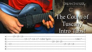 The Count Of Tuscany Intro (w/ Tabs) - Dream Theater