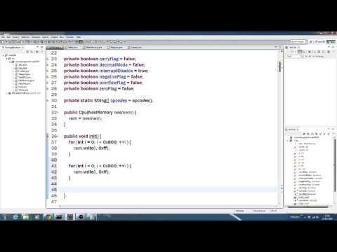 Lets make a NES emulator! (Episode 5) - Cpu Constructor and init() methods