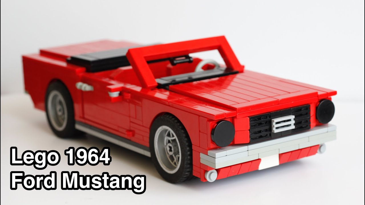 lego 1 18 scale 1964 ford mustang convertible youtube. Black Bedroom Furniture Sets. Home Design Ideas