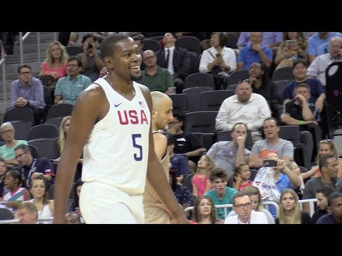 USA VS Argentina Exhibition Game Las Vegas | Courtside Video + Nosebleeds Video