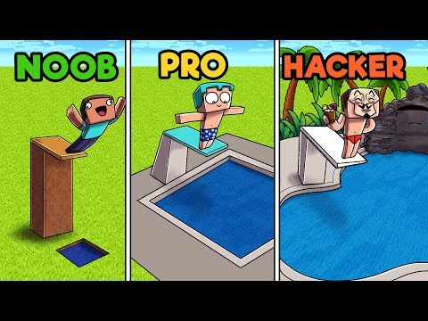 Minecraft - POOL! (NOOB vs PRO vs HACKER)