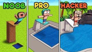 Minecraft - POOL! (NOOB vs PRO vs HACKER)