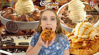 EPIC RESTAURANT DESSERT CHEAT DAY | OREO CHEESECAKE, MONKEY BREAD, COOKIES AND ICE CREAM + MORE!