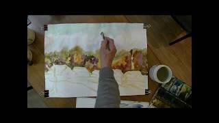 Видеоурок. Рисуем осенний пейзаж.