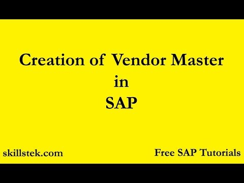 Creation Of Vendor Master In SAP | How To Create Vendor Master Data Centrally