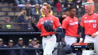 Illinois Baseball Highlights at Michigan 5/12/18