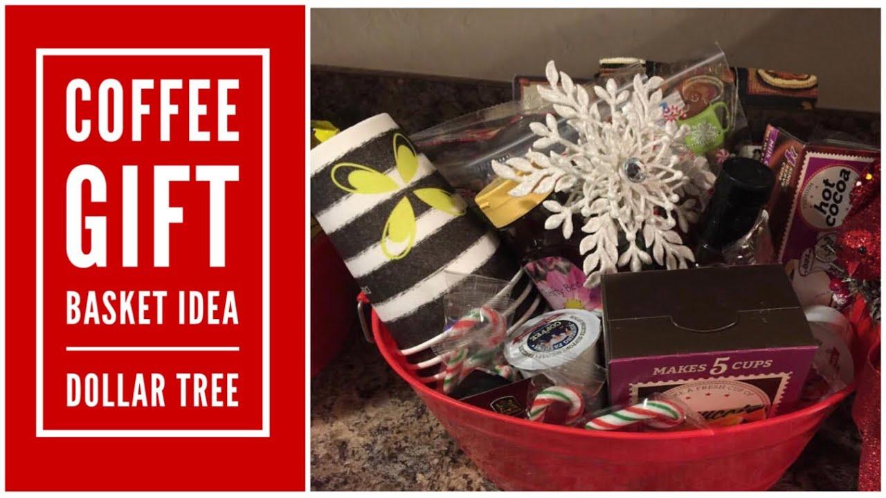 Coffee Gift Basket Idea Dollar Tree