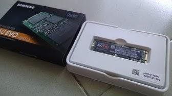 Mở Hộp Ổ cứng SSD Samsung 860 EVO 250GB M2 SATA 2280 giá rẻ 2019