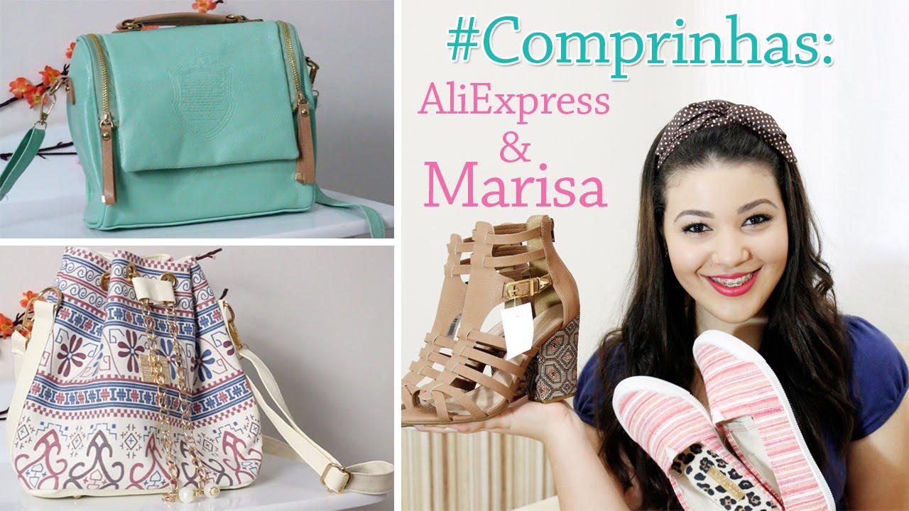 b60435d006 Compras  AliExpress e Marisa - YouTube