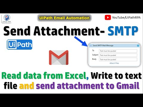 Send Email Attachment Email Automation UiPath RPA Tutorial - YouTube