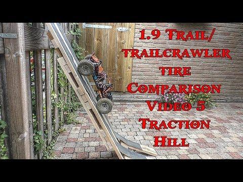 1.9 Scaler / crawler tire comparison Video-5 Traction Hill