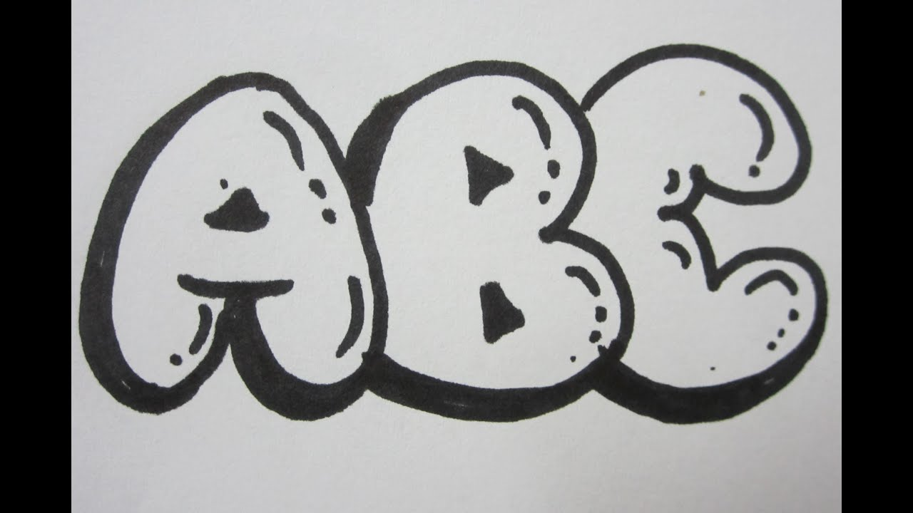 How to draw bubble letters all capital letters youtube expocarfo Gallery