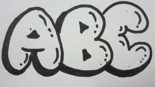 How To Draw Bubble Letters - All Capital Letters(http://Overnightartist.com - Exclusive training will show you how to draw beautiful letters on drawings and turn it into the best personal gift. How To Draw Capital ..., 2012-09-08T23:42:49.000Z)