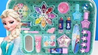 Maleta de Maquillaje para niñas de FROZEN Elsa y Anna | Set Manicura de Frozen para niñas