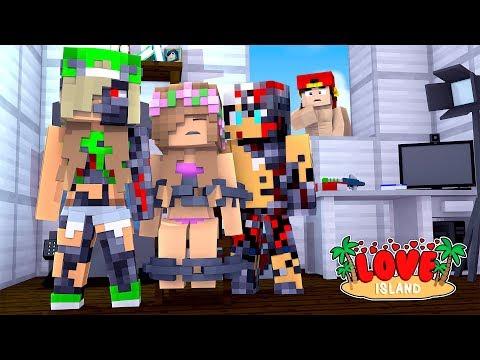 Minecraft LOVE ISLAND - EVIL ROBOTS RAVEN & DAISY CAPTURE LITTLE KELLY!!