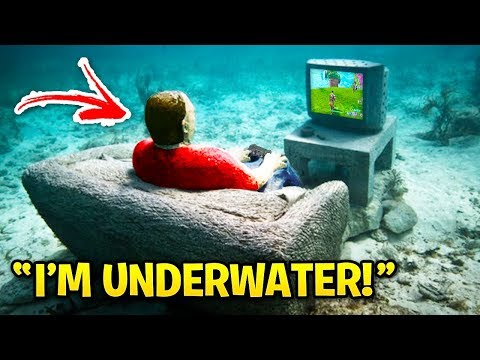 WEIRDEST PLACES YouTubers Played Fortnite! (LazarBeam, MrBeast, Faze Rug)
