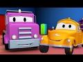フラットベッドトラック そして、レッカー車のトム, (子供向け)車&トラックの建設アニメ - 2017