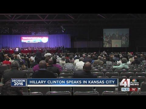 Hillary Clinton speaks in Kansas City