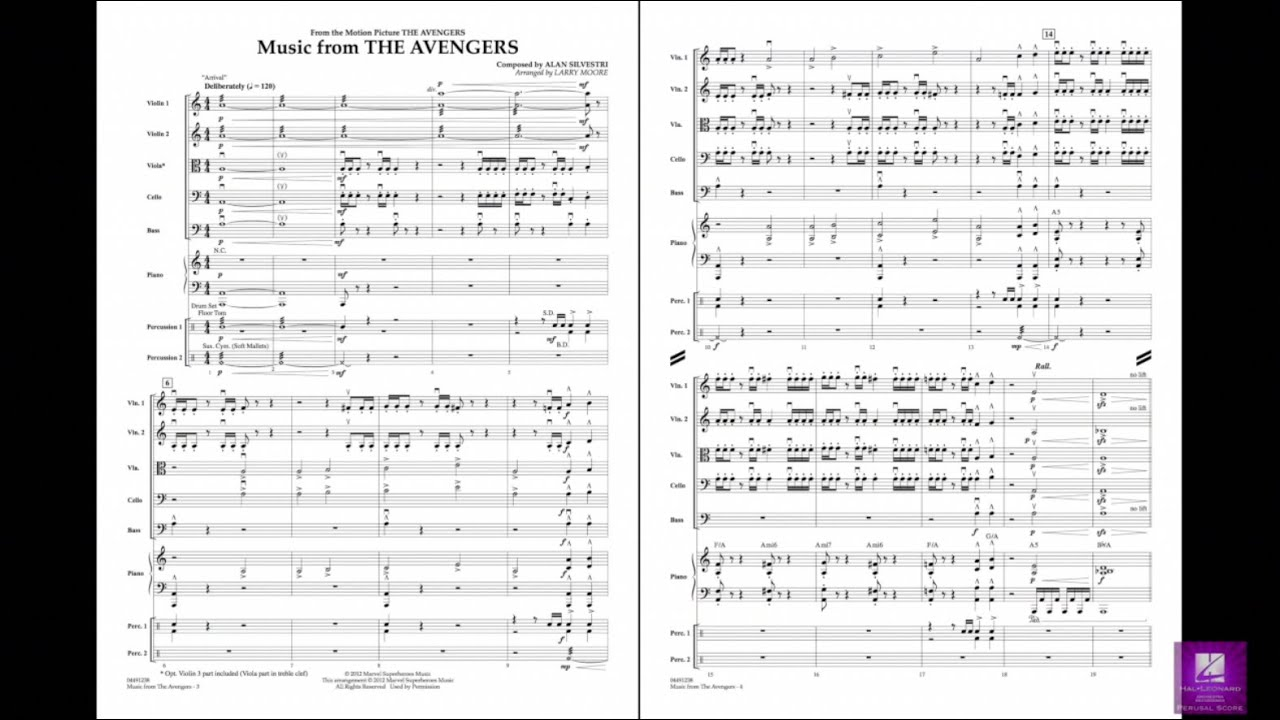 Music from The Avengers by Alan Silvestri/arr  Moore