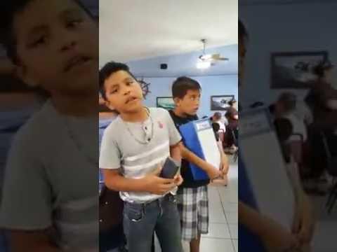 Niño Cantando Adios Amor De Christian Nodal