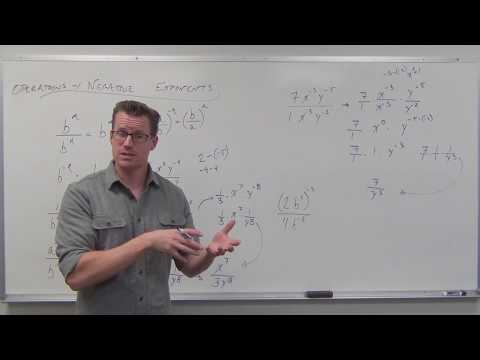 Operations with Negative Exponents (TTP Video 74)