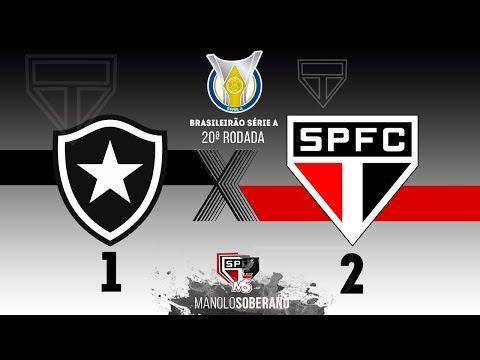 Botafogo 1 x 2 São Paulo  (Melhores momentos)  BRASILEIRÃO 21/09/2019