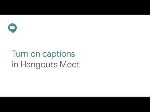 Turn captions on in Google Meet
