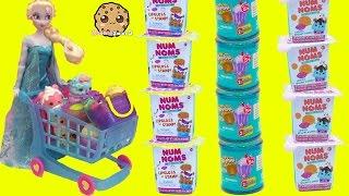 Disney Frozen Doll Queen Elsa Shops for Num Noms Series 2 & Shopkins Blind Bags