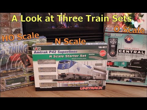 A look at three moderately priced train sets in N, HO, and O scales
