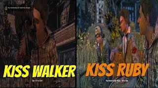 Aasim Kiss Ruby vs Kiss Walker - All Choices - The Walking Dead:Season 4 Episode 2
