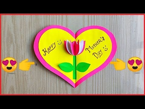 Easy and beautiful card for mother's day / handmade mother's day greeting card