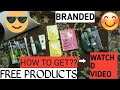 Get free sample products   Luxury   Branded   Smytten 3rd part  